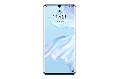 """Huawei P30 Pro (Respiração de cristal) mais capa transparente, 8GB RAM, 128 GB de memória, 6.47 Ecrã """"FHD +, câmara traseira quádrupla para efeitos Bokeh avançados, câmara frontal 32 Mpx HDR +"""