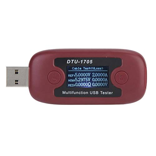 NITRIP DTU-1705 Hochpräzises Multifunktions-USB-Kapazitäts-Spannungsprüfer-Stromzähler-Überwachungswerkzeug - 55 Wh Apple