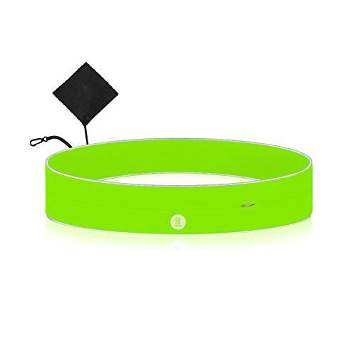 Sport-Gürtel mit Reißverschluss-Tasche Handy-Gürtel-Tasche Lauftasche Jogging Bauchtasche-n flach-e Laufgürtel Lauf-gurt Handy-halterung für Joggen Running Belt Hüft-tasche zum Laufen Geld-gürtel
