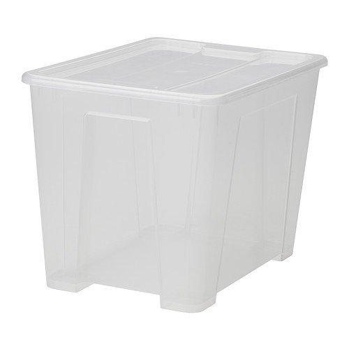 Ikea Samla - Contenitore con Coperchio, 22 Litri