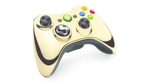 Xbox 360 Wireless Controller Chrome Gold (Xbox 360 Chrome Controller)