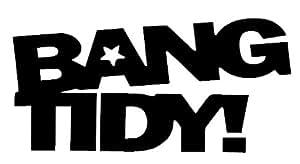 Bang Tidy Funny Bumper Sticker Car Van Bike Sticker Decal Free P&P