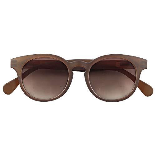 c2e3866a65068f Babsee Bifokale Sonnenbrille für Damen und Herren Modell Piet Braun +1.5 |  Es ist fast keine Linie sichtbar Bifokale Sonnenbrille mit UV-Schutz Braun  ...