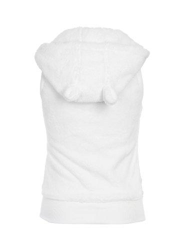 Stitch & Soul Damen Sweatshirt TeddyfleeceWeste, Kapuze + Ohren White