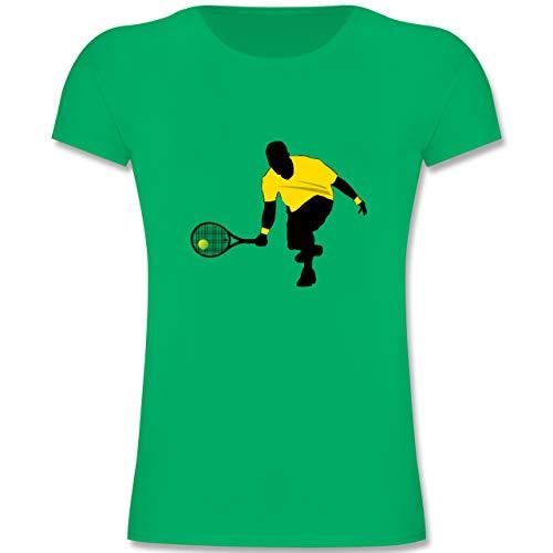 Sport Kind - Tennis Squash Kniend - 164 (14-15 Jahre) - Grün - F131K - Mädchen Kinder T-Shirt