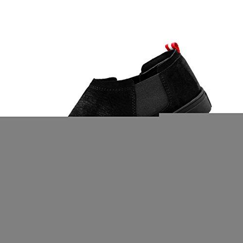 Miyoopark UK-XCR6062A, Herren Mokkasins Black-Black Sole