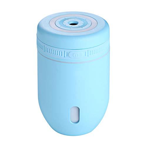 xMxDESiZ LED Lampe Luftbefeuchter Nette Tasse Licht Air Mist Diffusor Luftreiniger Auto Büro Dekor Blau (Honeywell Luftbefeuchter Lampe)