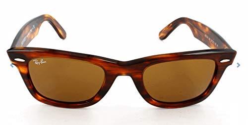 Ray-ban wayfarer, occhiali da sole unisex adulto, marrone (954 954), 50 mm