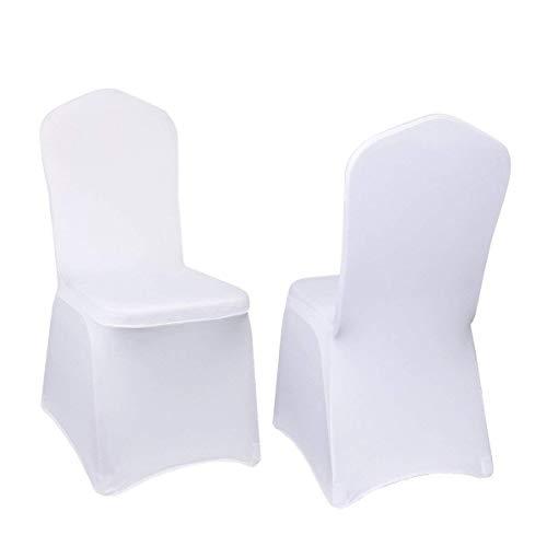 10 bianco fodere coprisedie universali paris plus, per schienale alto fino a 105 cm