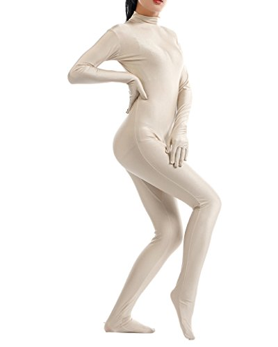 Ganzkörperanzug Anzug Kostüm Catsuit Overall Jumpsuit Für Männer Und Damen Nackt (Nackt Anzug Mann)
