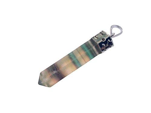 pitze (Pendel Anhänger) in Amethyst, Bergkristall, Lapislazuli uvm. (Multi Fluorit) ()