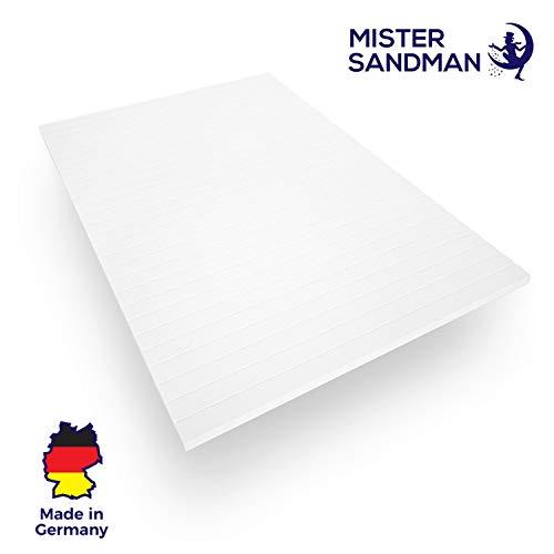 Mister Sandman orthopädischer Visco-Topper für rückenfreundliches Liegen - weiche und atmungsaktive Matratzenauflage, Öko-Tex geprüft, 180x200 cm