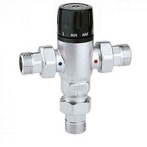 Caleffi 521503 – Mezclador térmico (3/4″, con válvulas antirretorno)