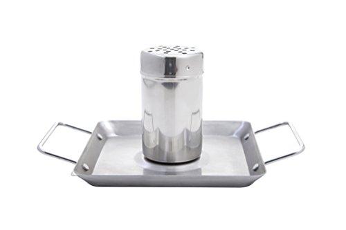 ALLGRILL Hähnchenhalter aus Edelstahl ca. Ø 5 x 15 cm mit Bodenplatte ca. 12x12 cm (BBQ-Hähnchen/Beer Can Chicken Roaster/Geflügelhalter/Hähnchenständer/Hähnchengriller)