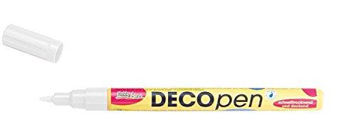 Deco-marker (Kreul 46151 - Deco Pen fine, Universalstift zum Gestalten, Beschriften und Verzieren von kleinen, originellen Geschenken, mit Rundspitze, Strichstärke 1 - 2 mm, weiß)