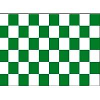 Nuovo, motivo: bandiera a scacchi, colore: bianco, Verde & 1,52 Meters x 0,91 Meters con 2 occhielli in metallo