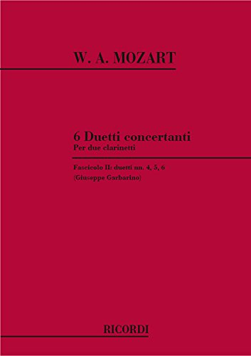 6 Duetti Concertanti Per 2 Clarinetti