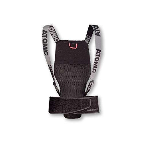 Atomic Damen/Herren Ski-Rückenprotektor Live Shield, Verstellbar, Größe XS, schwarz, AN5205020XS