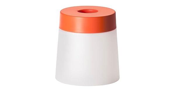 Ikea ps lampada led sgabello in outdoor arancione amazon