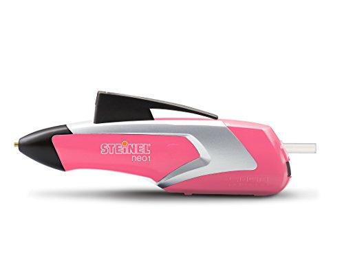 Steinel Akku-Heißklebestift Neo1 pink, Heißklebe-Pistole, 3 Klebesticks 7mm, kabellos, 3.6 V Akku, 15 Sek. Aufheizzeit