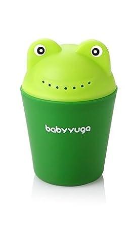 Baby Kids Cartoon Frog Style Bath Shower Water Rinse Cup Bathroom Hair Eye Shampoo Rinse Sprinkler Cup (Green)