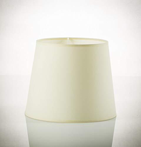 Weißer Lampenschirm Stehlampe Ø38cm 35cm hoch für E27 WILLOW aus Stoff Schirm Stehleuchte