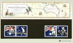 1988200. Jahrestag der Australian Settlement Briefmarken in Präsentation Pack PP165(bedruckt Nr. 191)-Royal Mail Briefmarken