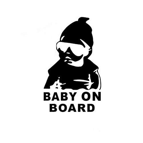 "Dadahuam Autoaufkleber, 6\""x 4\"" Baby AN Bord Kreative Mode Auto Aufkleber Schwanz Warnzeichen Aufkleber"