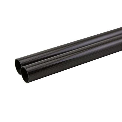 SHINA 3K Carbono de 20 mm de Tubo de Fibra de Carbono 18 mm x 20 mm x 500 mm Lustroso para RC Quad