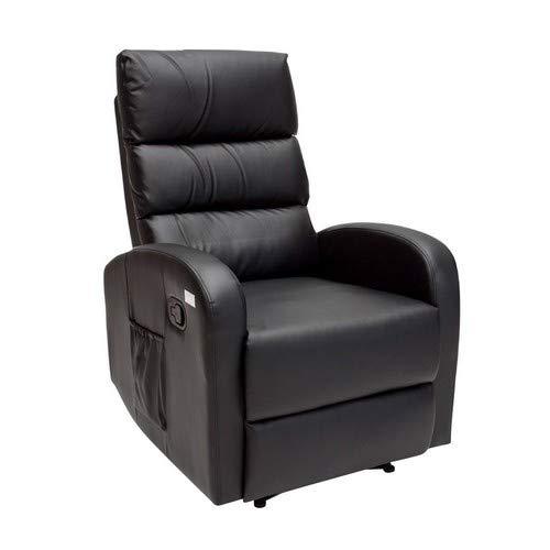 Novohogar Sillón de Masaje Comfort con Sistema de Calor Lumbar y 10 Motores Que Cubren Las 4 Zonas Corporales (Negro)
