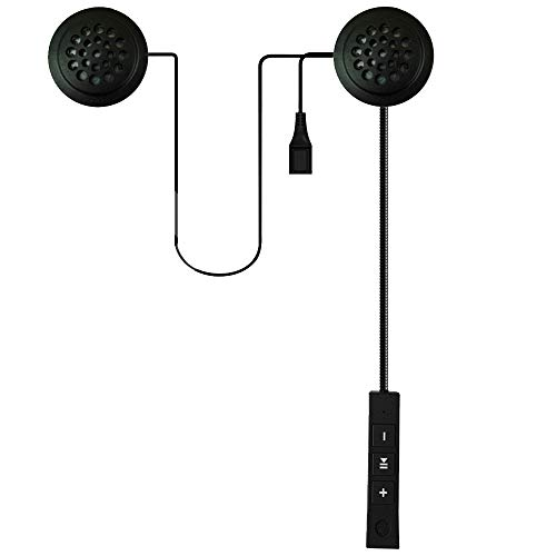 Wasserdicht Bluetooth Kopfhörer in Ear Stereo-Ohrhörer,Helm Wireless Bluetooth 4.0 Headset Stereo-Kopfhörer Handfreier Kopfhörer (Black) Bluetooth-helm-adapter