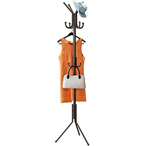 Garderobenständer Floor Tree Modern Coat Rack Hat Handtaschenständer Metall-Finish Schwarz Rosa 19 Zoll * 69 Zoll,Bronze - Metall-finish Coat Rack