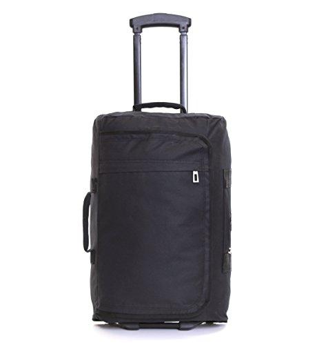 """Aerolite 21"""" bagage à main accepté en cabine - Bagage à roulettes - NOIR"""