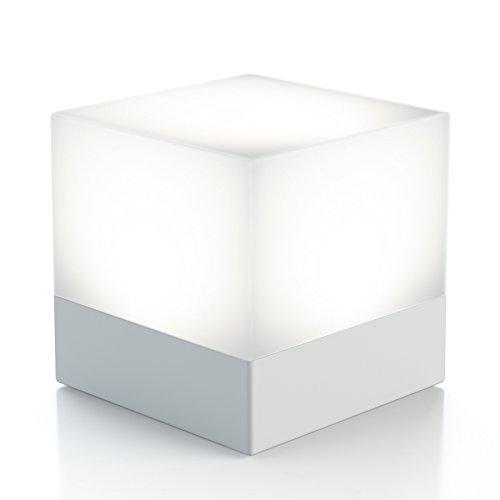 dimmbares LED Würfellicht, Farbwechsel- & Weisslicht, Nachtlicht für Kinder Schlafzimmer Nachttisch Babyzimmer – einstellbare Stimmungs Tischlampe für Ambiente – mit Batterien, tragbar Spass