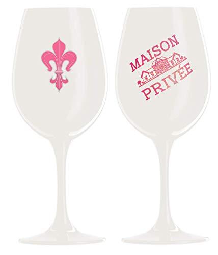 et Luxus Gläser schwarz pink Kristallglas Wein Champagner Gläser XL XXL-Kelche Kristall ()