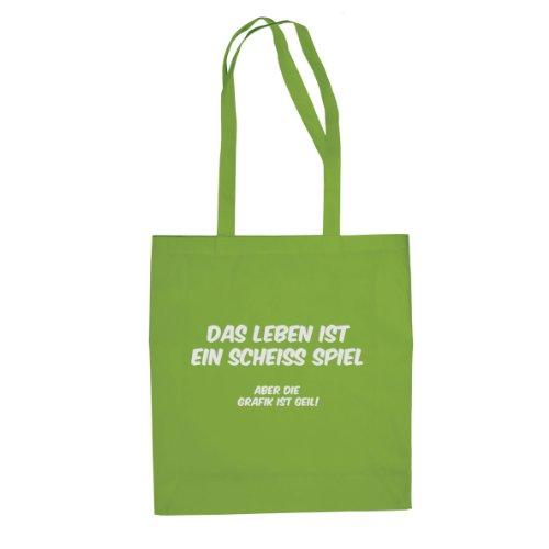 Das Leben ist ein scheiß Spiel - Stofftasche / Beutel Hellgrün