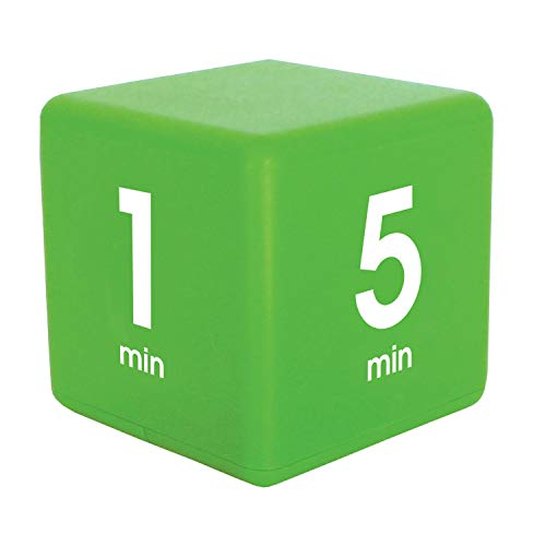 Datexx Time Cube Der Wunder-Zeitwürfel mit 1, 5, 10 und 15 Minuten für das Zeitmanagement - Küchen-Timer - Hausaufgaben-Timer - Trainings-Timer - Meeting-Timer | grün