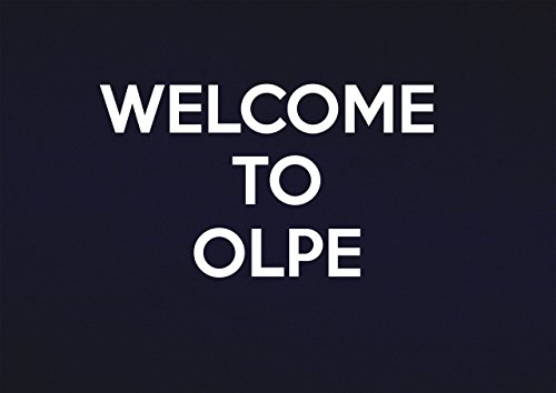 Schilder 2alle Welcome to olpe-metal Wand sign-size ca. 400mm x 300mm, Aluminium, Multi, 40x 30x 1cm