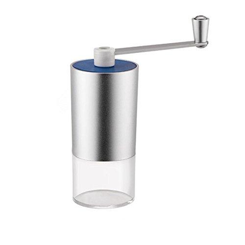 Syeytx Mini tragbare Aluminium-Handkaffeemühle Professionelle manuelle Mühle