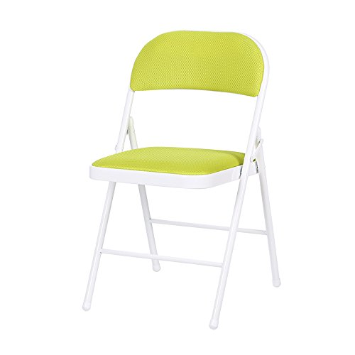 Hocker YANFEI Klappstuhl Mesh Breathing Esszimmerstuhl Konferenzstuhl Portable (Farbe : Grün)