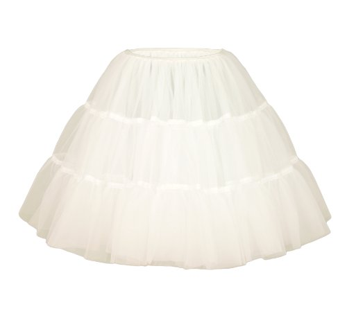 White 1950s/80s Petticoat Bridal Net Skirt 18
