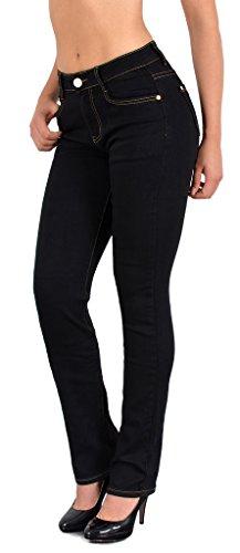 by-tex Damen Jeans Hose Damen Jeanshose Röhrenjeans bis Übergröße Übergrösse Gr. 54, 56, 58 #J25 (Gerades Jeans Bein Size Plus)
