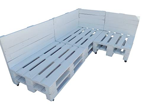 Conjunto de palets con ruedas para Chill Out & Piscina & Jardín & Interior & Exterior formado de 3 cuerpos (3 sofas)