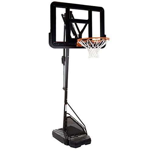 HAMMER Slam Shot Pro Basketballanlage inkl. Basketballtrainer Ball Return, Rebound-Netz und Mikasa Basketball, 7-Fach Verstellbarer Basketballständer, Höhe bis zu 3,05 m, NBA-Backboard-Design (Verstellbare Basketball-netz)