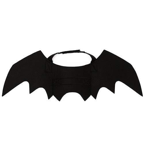 QNMM Katze Halloween Kleider Engel Flügel Cool Schwarz Fledermaus Dress up Halloween Pet Fledermaus Wings Katze Hund Bat Kostüm