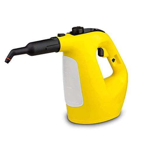 JJZQQJQ Dampfreiniger Handheld 3.5 Multi-Purpose Teppich Hochdruck Chemical Free 9-teiliges Zubehör, entfernt Flecken, Vorhänge, Autositze, Fußböden, Fensterreinigung, Gelb
