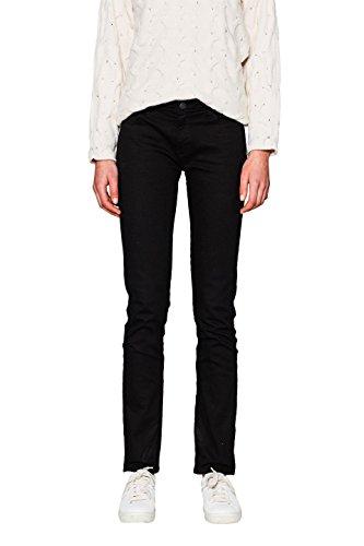 ESPRIT Damen Straight Jeans 997EE1B817, Schwarz (Black 001), W30/L32