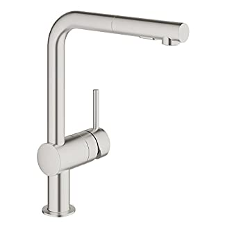 31s%2BlG2KhKL. SS324  - Grohe 30 300 Minta pull-out Spray grifo de la cocina,