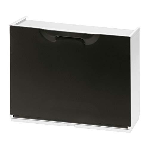ORYX Negro 21030375 Zapatero Resina 51x17x41cm. Blanco, 51x17.3x40.1 cm