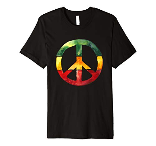 Kinder Kostüm Krieg - Peace Sign Rasta Reggae Roots One Love T-Shirt Anti Krieg